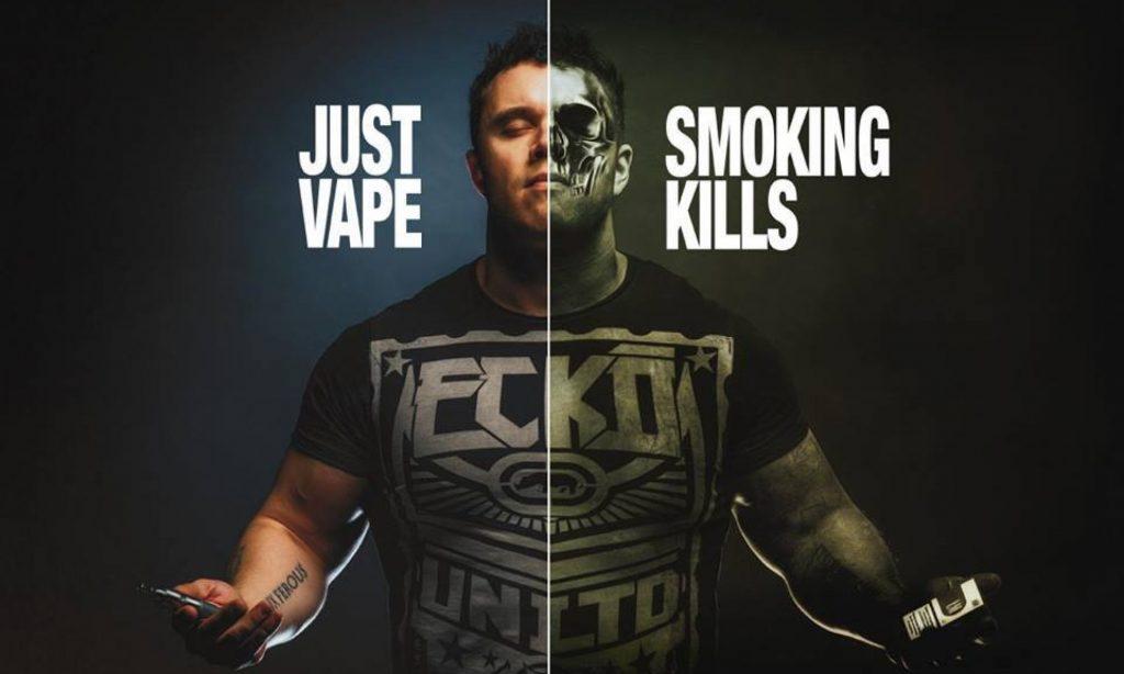 nicotina fumada o vapeada