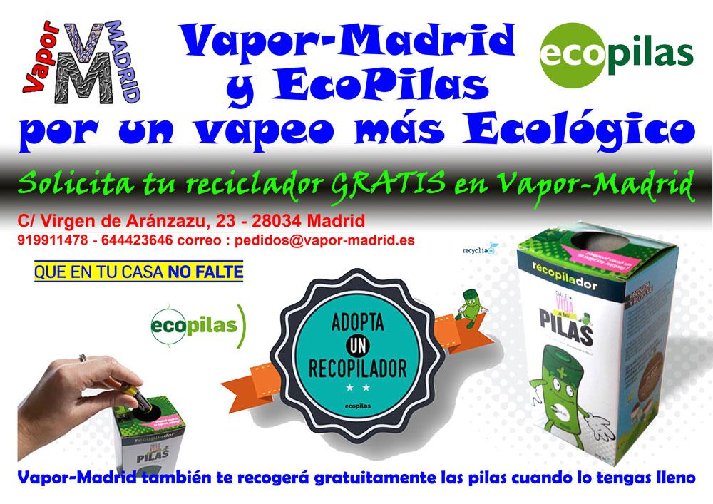 Reciclador Ecopilas Vapor-Madrid